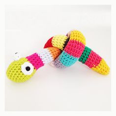Crochet Snake Pattern English US terms and by annemariesbreiblog, €2.00