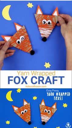 Diy fall crafts 517984394644909442 - See how to make an adorable and easy Yarn Wrapped Fox Craft. A quick and easy recycled Fall craft for little hands. This Woodland Creatures craft is great for building fine motor skills. Arts And Crafts For Teens, Art And Craft Videos, Arts And Crafts House, Easy Arts And Crafts, Halloween Crafts For Kids, Arts And Crafts Projects, Diy Crafts For Kids, Art For Kids, Craft Ideas