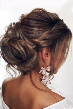 elegant wedding hairstyles updo twisted with bun tonyastylist #weddinghairstyles