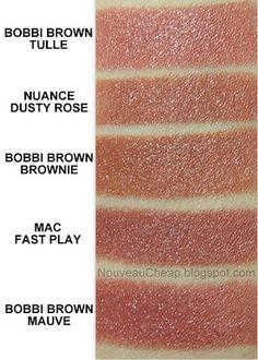 Bobbi Brown dupe alert | Nouveau Cheap Mac Faux Lipstick, Dusty Rose Lipstick, Bobbi Brown Lipstick, Peach Lipstick, Lipstick Tube, Natural Lipstick, Pink Lipsticks, Professional Makeup Artist, Drugstore Makeup