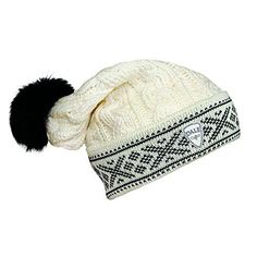Dale Of Norway Kapp Flora Hat One Size Off White-Black * Click on the image for additional details.