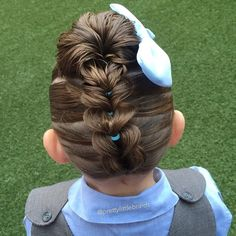 Joining in on #jehat100k competition today with this upside down pull through braid into a messy bun.  Welcome to all our new followers!  #littlegirlshairstyles #cutegirlshairstyles #braid #braids #braidsforgirls #braidphotos #instabraid #instahair #peinados  #cutehairstyles101 #geflochten #hairstylesandtips #braidideas #bnwbraids #solopeinados @bestofhair #hairinspiration #flette #bnwbraids