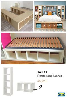 The IKEA Kallax series Storage furniture is an essential element of any home. They supply obtain and help you keep track. Fashionable and delightfully simple the ledge Kallax from Ikea , for example. Ikea Hacks, Ikea Furniture Hacks, Hacks Diy, Cheap Furniture, Painted Furniture, Furniture Ideas, Ikea Bedroom Furniture, Furniture Design, Teen Furniture