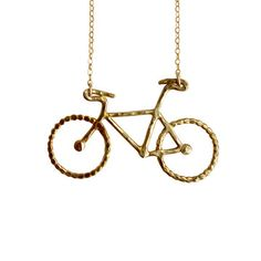 My design inspiration: Bike Necklace Brass on Fab.