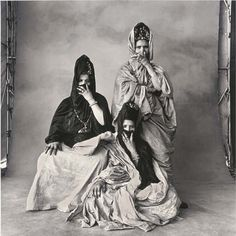 Irving Penn, Three Guedras (Half-Veiled), Morocco, 1971