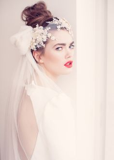 Jannie Baltzer 2014 bridal headpiece collection  Whimsical style bridal headpieces, vintage inspired bridal headpieces, elegant headwear  Photography Sandra Åberg Photography - http://wedding.sandraaberg.com/