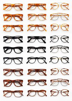 Wall Of clear lens glasses #clearlens #eyeware