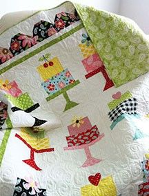 Cakewalk by Lori Holt. Could have this made with my name and date of birth on it!  #quilt