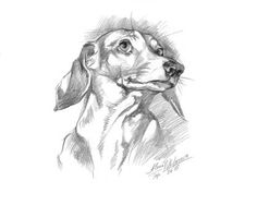 Dog Dachshund portrait. Doxie-6.~ Instant Download ~ Printable artwork~ Black and White art ~ digital JPEG file by DigitalScrapShop on Etsy
