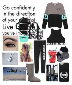 """Airport"" by hailey1011 ❤ liked on Polyvore featuring Victoria's Secret and UGG Australia"