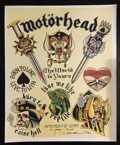 Motörhead Print by Constantine Glinka · Tattoo Punks · Online Store Powered by Storenvy