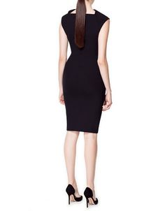 Zara SLASH NECK DRESS  must have