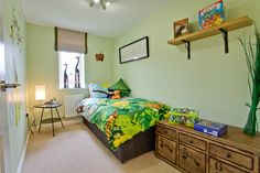 Jungle theme bedroom in The Southwold at St Francis park in Shefford   Bovis Homes