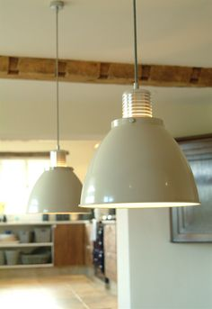 Meriden Kitchen Pendant light in clay at Garden Trading