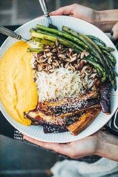 Barbecue Eggplant Noodle Bowl with Golden Beet Romesco Sauce (Vegan, Gluten Free) - Will Frolic for Food