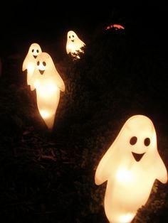 Ghostly Halloween Lights halloween ghost halloween decor happy halloween halloween decorations halloween lights