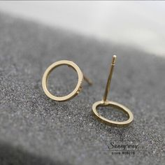 0,50 EUR, inkl. Versand: Free shipping Cute Round Circle Studs Earrings  wholesale HY-in Stud Earrings from Jewelry & Accessories on Aliexpress.com   Alibaba Group