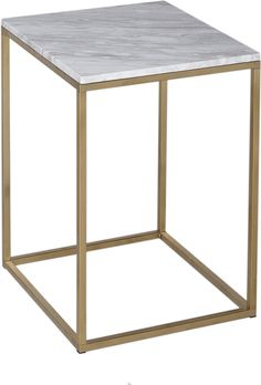 Kensal Square Side Table Marble Top with Polished Steel Base (Side table) Marble Top Side Table, Square Side Table, Marble Tables, Unique Bedside Tables, New Bedroom Design, Interior Design, Coffee And End Tables, Glass Table, Decoration