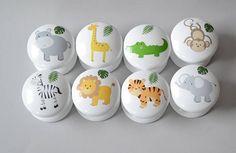 Jungle Animals Drawer Knobs Drawer Pulls Dresser Pulls