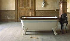 Clawfoot Bathtub, Projects To Try, Rustic, Bathroom, Diy, Home, Cottage Chic, Country Primitive, Washroom