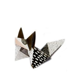 DIY Origami Foxes