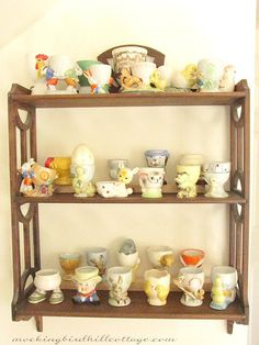 egg cup collection - Love those eggcups (Reminds me of Nana)