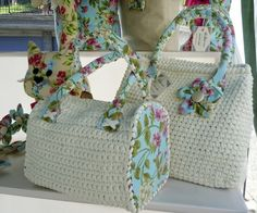 News borse fai da te: una linea floreale per le borse di tessuto e fettuccia - Pane, Amore e Creatività | Pane, Amore e Creatività