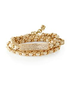Pavé' Bar Chain Wrap Bracelet