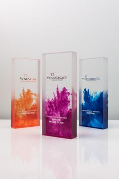 Venus Concept Trophies | Design Awards | #modern #colorful #awards