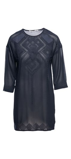 Bishop + Young Sheer Embroidered Dress With Slip in Navy / Manage Products / Catalog / Magento Admin