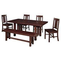 6 Piece Dining Set Cappuccino - Walker Edison