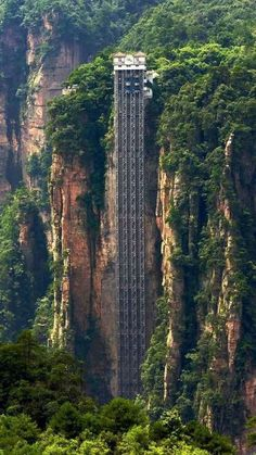 Highest Outdoor Elevator in the world - Bailong Elevator in Hunan, China c. Ashim Kumar Paul via TW by Britannia PR @Britanniacomms
