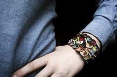 leather bracelet by eli's fantasy handmade jewelry  www.elisfantasy.com