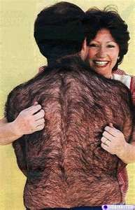 If she'd brush that every night and condition it, his split ends would go away and he'd have more body and more bounce!