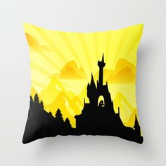 beauty and the beast castle.. disney sunset by studiomarshallgifts