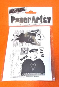 Paper Artsy UK Rubber stamp sheet eclectic rubber stamps fairy sailor Ancestors