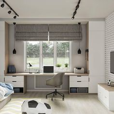 Small House Interior Design, Dream Home Design, House Design, Bedroom Office Combo, Little Girl Rooms, Room Inspiration, Decoration, Furniture, Home Decor