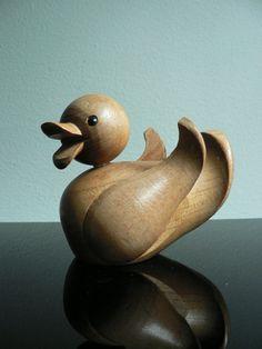 Vintage 1950s Kay Bojesen wood duck / mid by secreteyesonly