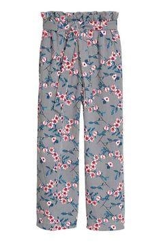 Pantaloni largi - Albastru - FEMEI | H&M RO