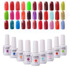 Moda Arte Clavo 1523 Laca de Uñas de Gel UV Gel Polaco Conjunto de Arte de uñas de Gel UV Gel Color Empapa de Clavo polaco