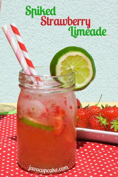 Spiked Strawberry Limeade!