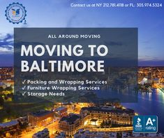 All Around #Moving is ready to help you #relocate to #Baltimore, Maryland. We are the #1 #residential moving company in Manhattan, #NY and #Miami, FL.    Contact us today at 212.781.4118 to speak to a company representative. Long Distance Moving Companies, Moving Services, Baltimore Maryland, Miami Florida, Manhattan, Nyc, New York City