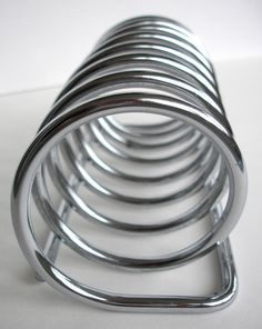 Spiraling out of Control...  Chrome Retro Toast Rack Vintage Toast Rack Vintage by FillyGumbo, $45.00