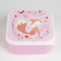 Lunchbox 12x12 Fuchs - Sass & Belle -  www.lolakids.de