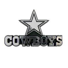 Dallas Cowboys NFL Chrome 3D Auto Car Emblem Decal Sticker Football Team Logo