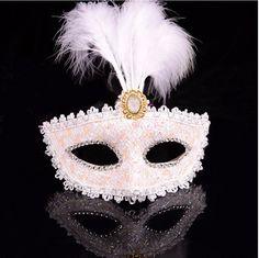 Nobre e elegante princesa mulheres Sexy itália veneza 6 cores Feather Masquerade Party máscara Z13T4C em Materiais para festas & comemorações de Casa & jardim no AliExpress.com | Alibaba Group