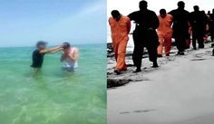 sahid  Praise God!!  <3  On left is Sahid baptizing Christians on the same shore where...on right...21 Christians were beheaded.  Jesus is with us, helping to reach others who need to hear the Good News that JESUS CHRIST DIED ON THAT CROSS FOR YOU & ME.  AND WHEN WE ACCEPT HIM AS OUR SUBSTITUTE, WE ARE BORN AGAIN & WILL LIVE ETERNALLY WITH GOD!  John 3:16~For God So Loved the World that He Gave His Only begotten Son, that WHOSOEVER believeth in Him shall NOT perish but have Everlasting Life!