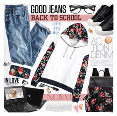 """Back to School: Denim Guide"" by katjuncica ❤ liked on Polyvore featuring J.Crew, Ilia, Madden Girl, Tela Beauty Organics, Sonix, Chanel and BackToSchool"