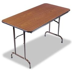Alera : Folding Table, 48w x 30d x 29h, Walnut -:- Sold as 2 Packs of - 1 - / - Total of 2 Each by Alera. $201.72