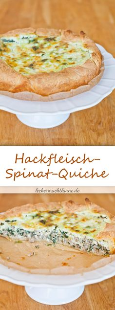 Hackfleisch-Spinat-Quiche